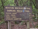 Duncan Ridge Trail - Skeenah Gap sign