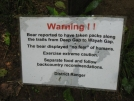 Bear warning 2 by buckowens in Section Hikers