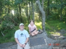 Buck and Roo by the plaque on Springer Mountain by buckowens in Section Hikers