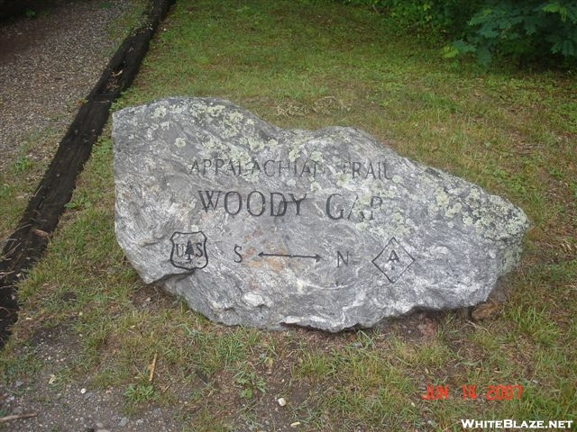Rock at Woody Gap