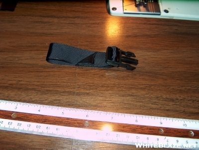 Bottom attachment strap with buckle