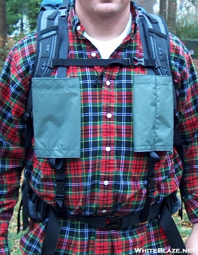 Adjust carriers to be level and near sternum strap