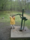 At Waterpump At Flatbrookville Rd (aka Blue Mountain Lakes Road) by Toolshed in Section Hikers