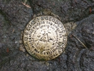 Survey Marker On Top Of Mt. Rogers