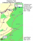 Allegheny Trail:  Missing section overview map by Rufous Sided Towhee in Other