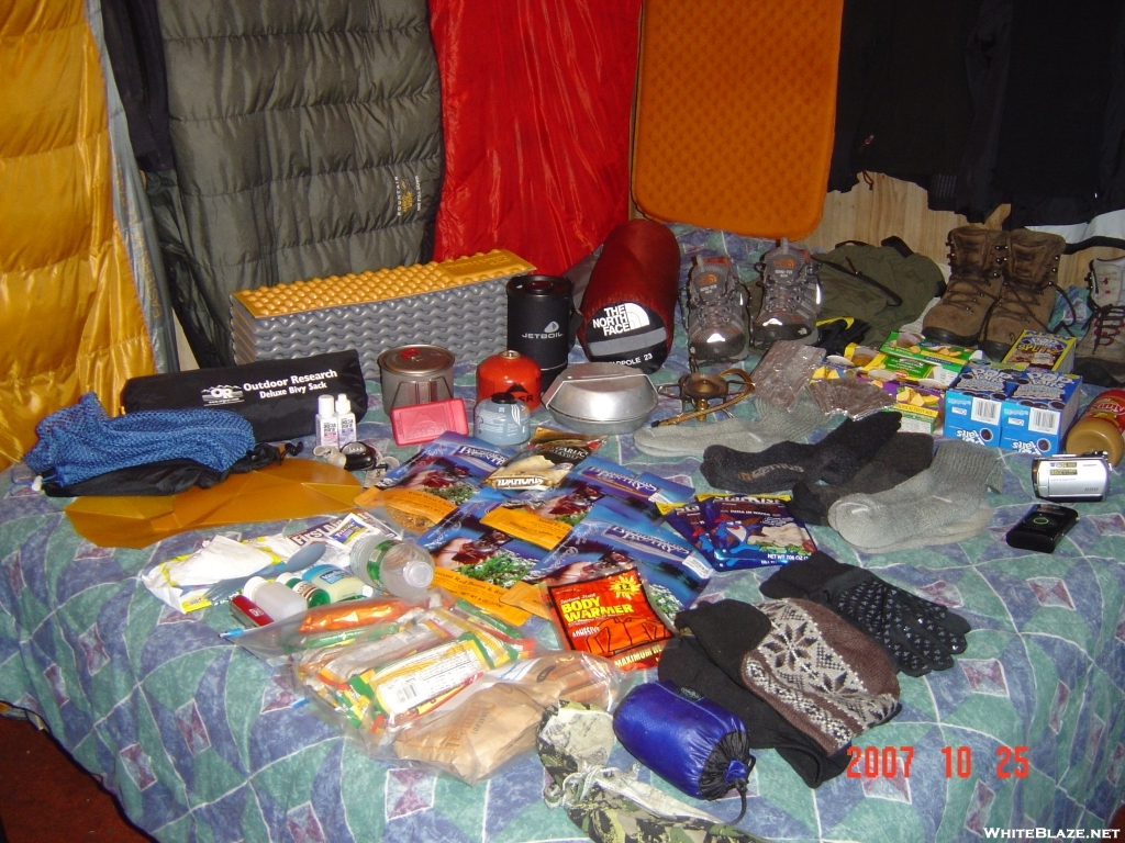 most used hiking gear
