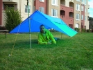 Modified Poncho Tarp by BakerMan in Tent camping