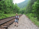 Cam at the Nolichucky Gorge Train Tracks by Possum Bill in Views in North Carolina & Tennessee