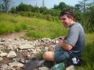 Robby Filtering Precious Water by Sir Evan in Trail & Blazes in Virginia & West Virginia