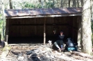"Working on the ""Toes"" at Old Carter Gap Shelter by Caveman1 in Section Hikers"