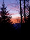 NH sunrise. Looking east from Beaver Brook Shelter