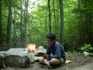 Heading to Bland, VA ... reading by campfire by doggiebag in Virginia & West Virginia Shelters