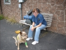 Aldo recovering from a rattler strike by doggiebag in Maryland & Pennsylvania Trail Towns