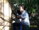 Shelterbuilder Working On The Privy Reconstruction At Rausch Gap Shelter