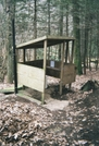 Roaring Fork Shelter Privy by Tennessee Viking in North Carolina & Tennessee Shelters