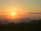 A setting sun from Unaka Mountain Overlook by Tennessee Viking in Views in North Carolina & Tennessee