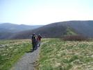 Eastman Hiking Club Maintenance Members Hiking toward Grassy Ridge by Tennessee Viking in Maintenence Workers