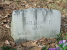 Millard Haire Grave On Green Ridge Knob-cold Spring Mtn