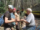 Hikers Rewarded With Patches by Tennessee Viking in Maintenence Workers