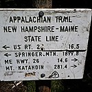 New Hampshire/Maine state line by Eureka in Section Hikers