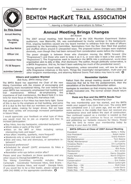 Bmta Newsletter Jan 2008