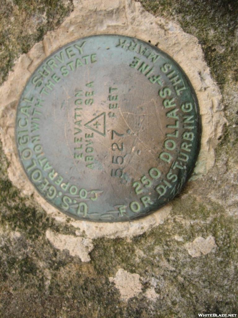 USGS Survey Marker on Thunderhead Mountain in the Smokies