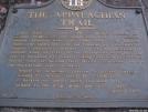 Appalachian Trail Plaque at Amicalola Falls S.P.