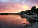 Sunset, Yellowstone River...  Montana by Rift Zone in Other Trails