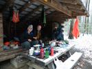 Rain Man In Lost Mtn Shelter, Va by Rain Man in Virginia & West Virginia Shelters