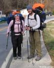Pokie & Bumfoot in Hot Springs, NC by Rain Man in Thru - Hikers
