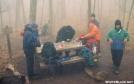 Breakfast at Springer by Rain Man in Springer Mountain Shelter