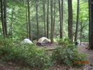 Trailhead Camp, Dennis Cove Road by Rain Man in Trail & Blazes in North Carolina & Tennessee