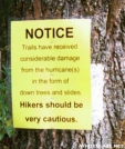 Hurricane warning sign, NC by Rain Man in Sign Gallery