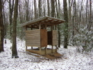 Lost Mtn Shelter Privy, Va by Rain Man in Virginia & West Virginia Shelters