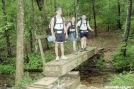 Justus Creek footbridge, GA by Rain Man in Trail & Blazes in Georgia