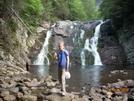 Patricia At Laurel Fork Falls, Tn by Rain Man in Trail & Blazes in North Carolina & Tennessee