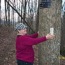 on both sides of the tree by Loretta in Trail & Blazes in North Carolina & Tennessee