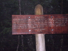 100 Mile Wilderness Sign by The Professor in Trail & Blazes in Maine