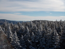 The view from fire tower on top of Hunter Mountain Catskill Mountains NY
