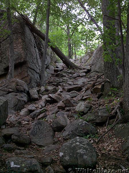 Agony Grind rockface trail