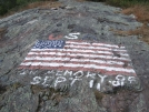 Flag on top of Shenandoah Mt by sasquatch2014 in Trail & Blazes in New Jersey & New York