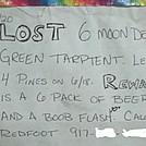 Sign at Fulhardt Knob Shelter