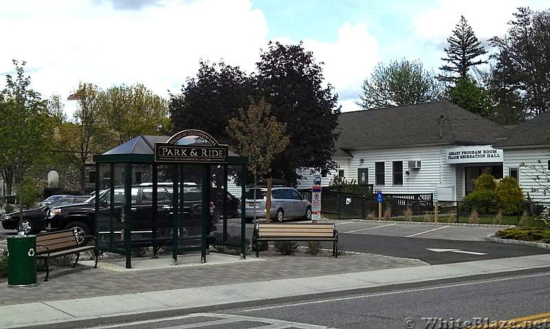 Bus stop at Greenwood Lake NY