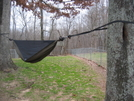 Hennessey Hammock Strung Up by HikerRanky in Hammock camping