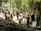 Building Mountaineer Falls shelter by Lugnut in Maintenence Workers