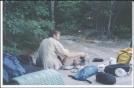 Dining at the tent platform, Tom Lenard Shelter