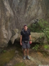 Me in front of a big rock, south of Spivey Gap by wilconow in Section Hikers