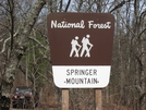 Springer Mountain by Scrapes in Sign Gallery