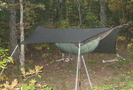 Hanging South Of Hog Pen by Scrapes in Hammock camping