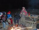 Night Shot Around Campfire